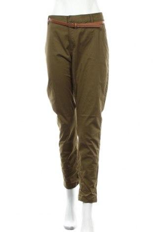 Γυναικείο παντελόνι Reserved, Μέγεθος XL, Χρώμα Πράσινο, 98% βαμβάκι, 2% ελαστάνη, Τιμή 20,79€