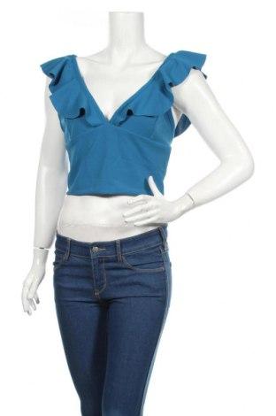 Γυναικείο αμάνικο μπλουζάκι Yfl Reserved, Μέγεθος XL, Χρώμα Μπλέ, 95% πολυεστέρας, 5% ελαστάνη, Τιμή 3,29€