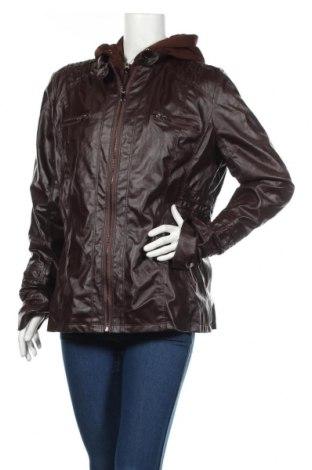 Dámská kožená bunda , Rozměr XL, Barva Hnědá, Eko kůže, Cena  641,00Kč
