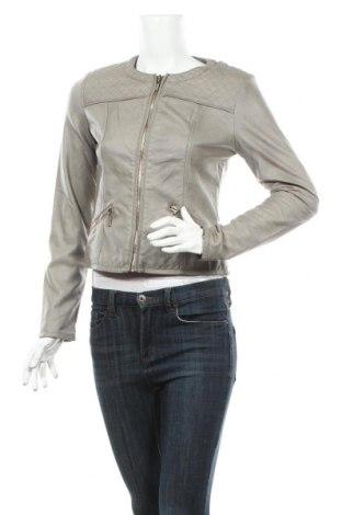 Γυναικείο δερμάτινο μπουφάν, Μέγεθος XS, Χρώμα Γκρί, Δερματίνη, Τιμή 24,82€