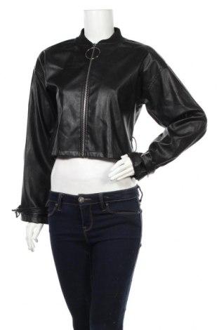 Dámská kožená bunda , Rozměr M, Barva Černá, Eko kůže, Cena  594,00Kč