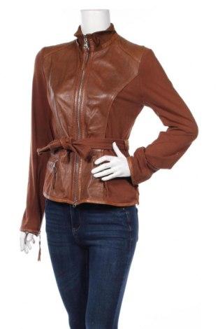 Γυναικείο δερμάτινο μπουφάν Arma, Μέγεθος L, Χρώμα Καφέ, Γνήσιο δέρμα, Τιμή 52,19€
