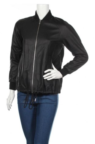 Дамско кожено яке COS, Размер XS, Цвят Черен, Естествена кожа, Цена 110,67лв.