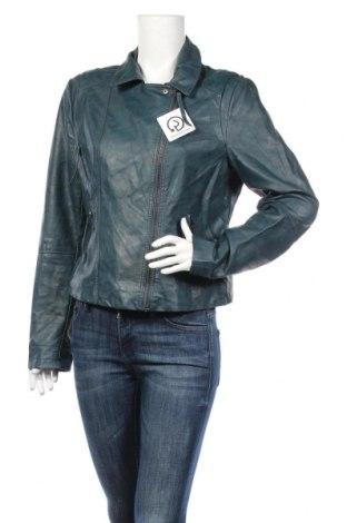 Γυναικείο δερμάτινο μπουφάν Camaieu, Μέγεθος XL, Χρώμα Μπλέ, Δερματίνη, Τιμή 26,10€