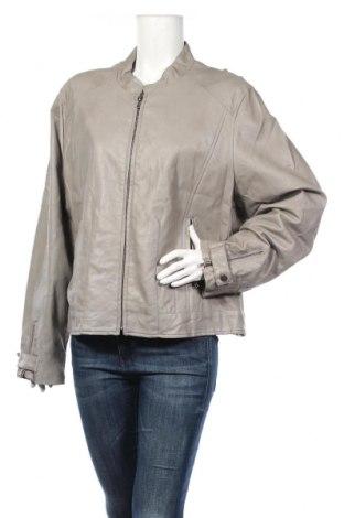 Γυναικείο δερμάτινο μπουφάν Ciso, Μέγεθος XXL, Χρώμα Γκρί, Δερματίνη, Τιμή 22,91€