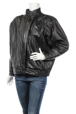 Γυναικείο δερμάτινο μπουφάν Confetti, Μέγεθος L, Χρώμα Μαύρο, Γνήσιο δέρμα, Τιμή 41,38€