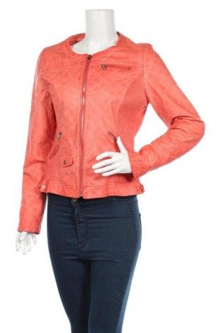 Γυναικείο δερμάτινο μπουφάν Dolce Vita, Μέγεθος L, Χρώμα Πορτοκαλί, Δερματίνη, Τιμή 26,10€