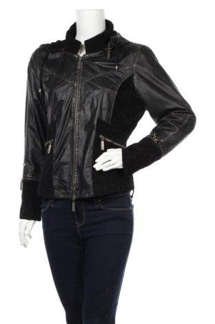 Γυναικείο δερμάτινο μπουφάν E, Μέγεθος L, Χρώμα Μαύρο, Γνήσιο δέρμα, φυσικό σουέτ, Τιμή 45,82€