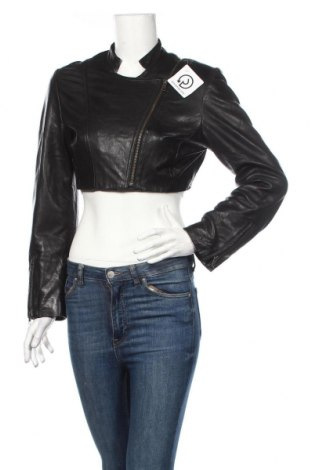 Γυναικείο δερμάτινο μπουφάν Kello, Μέγεθος M, Χρώμα Μαύρο, Γνήσιο δέρμα, Τιμή 45,82€