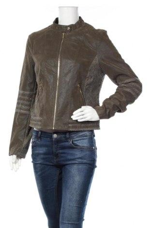 Γυναικείο δερμάτινο μπουφάν Laura Torelli, Μέγεθος M, Χρώμα Πράσινο, Δερματίνη, Τιμή 22,91€