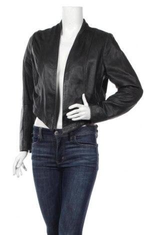 Γυναικείο δερμάτινο μπουφάν Marc Lauge, Μέγεθος XL, Χρώμα Μαύρο, Γνήσιο δέρμα, Τιμή 43,28€