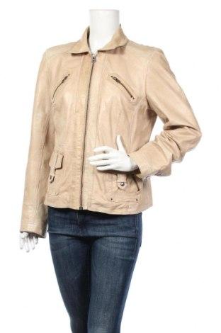 Γυναικείο δερμάτινο μπουφάν Marie Lund, Μέγεθος M, Χρώμα  Μπέζ, Δερματίνη, Τιμή 19,73€