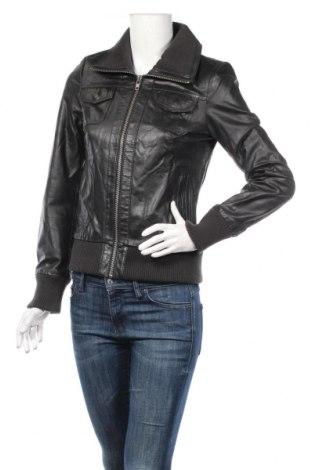 Γυναικείο δερμάτινο μπουφάν Only, Μέγεθος S, Χρώμα Μαύρο, Γνήσιο δέρμα, Τιμή 71,29€