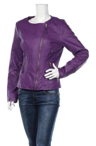 Γυναικείο δερμάτινο μπουφάν Promiss, Μέγεθος L, Χρώμα Βιολετί, Δερματίνη, Τιμή 24,82€