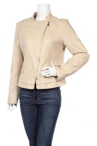 Γυναικείο δερμάτινο μπουφάν Softy, Μέγεθος XL, Χρώμα  Μπέζ, Δερματίνη, Τιμή 22,91€