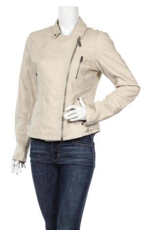 Γυναικείο δερμάτινο μπουφάν Up 2 Fashion, Μέγεθος S, Χρώμα  Μπέζ, Δερματίνη, Τιμή 27,37€