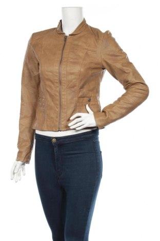 Γυναικείο δερμάτινο μπουφάν Vero Moda, Μέγεθος M, Χρώμα Καφέ, Δερματίνη, Τιμή 32,46€
