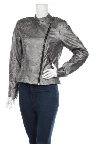 Γυναικείο δερμάτινο μπουφάν Vero Moda, Μέγεθος L, Χρώμα Γκρί, Δερματίνη, Τιμή 32,46€