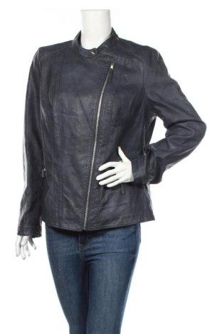 Dámská kožená bunda  Women by Tchibo, Rozměr XL, Barva Modrá, Eko kůže, Cena  610,00Kč