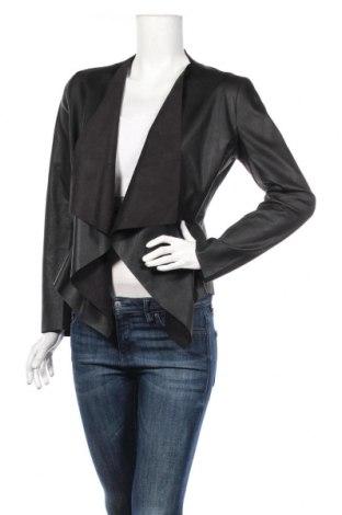 Γυναικείο δερμάτινο μπουφάν Zara, Μέγεθος S, Χρώμα Μαύρο, Δερματίνη, Τιμή 24,19€