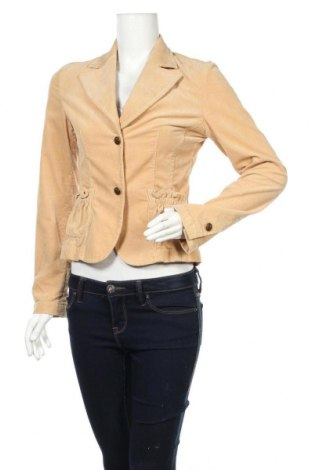 Дамско сако, Размер XS, Цвят Бежов, 98% памук, 2% еластан, Цена 6,59лв.