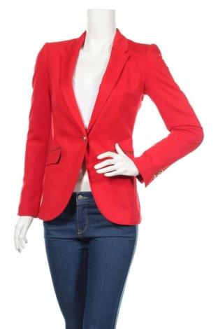 Női blézer Zara, Méret XS, Szín Piros, 72% poliészter, 24% viszkóz, 4% elasztán, Ár 9878 Ft