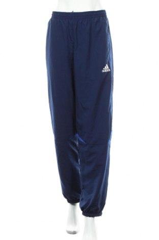 Γυναικείο αθλητικό παντελόνι Adidas, Μέγεθος M, Χρώμα Μπλέ, Πολυεστέρας, Τιμή 20,36€