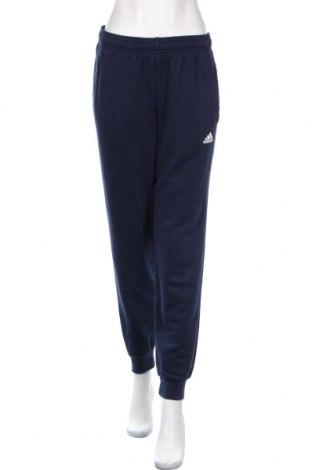 Γυναικείο αθλητικό παντελόνι Adidas, Μέγεθος M, Χρώμα Μπλέ, 70% βαμβάκι, 30% πολυεστέρας, Τιμή 20,36€