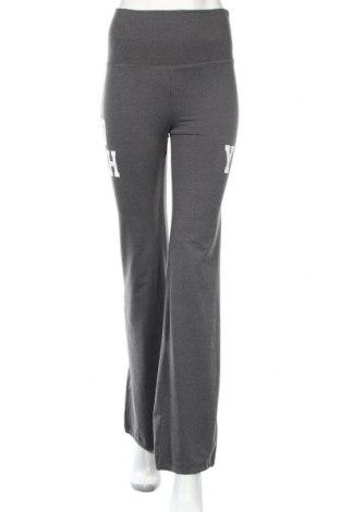 Γυναικείο αθλητικό παντελόνι Bershka, Μέγεθος S, Χρώμα Γκρί, 85% πολυεστέρας, 15% ελαστάνη, Τιμή 11,46€