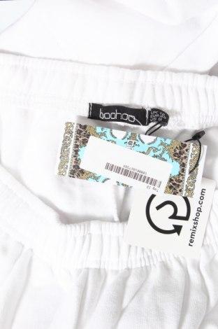 Дамско спортно долнище Boohoo, Размер M, Цвят Бял, 50% памук, 50% полиестер, Цена 24,00лв.
