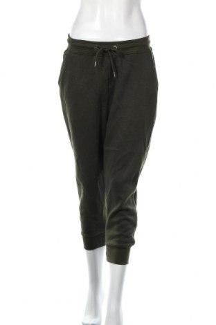 Pantaloni trening de femei Boohoo, Mărime L, Culoare Verde, 50% poliester, 45% bumbac, 5% elastan, Preț 72,00 Lei