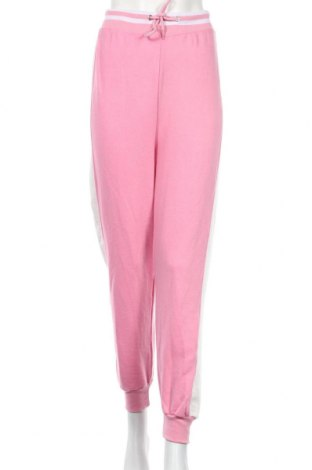 Pantaloni trening de femei Boohoo, Mărime M, Culoare Roz, 65% poliester, 35% bumbac, Preț 72,00 Lei