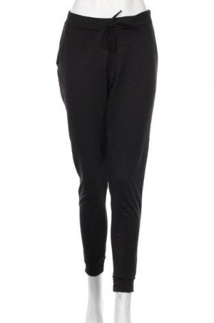 Pantaloni trening de femei Boohoo, Mărime M, Culoare Negru, 95% poliester, 5% elastan, Preț 68,21 Lei