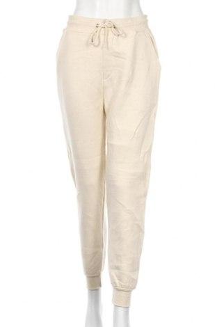 Pantaloni trening de femei Boohoo, Mărime L, Culoare Bej, 65% poliester, 35% bumbac, Preț 72,00 Lei