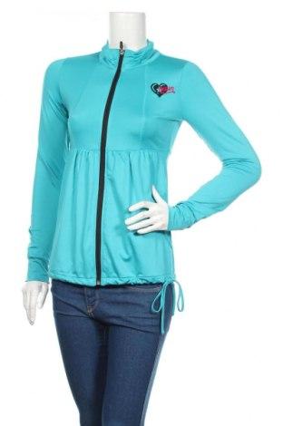 Γυναικεία αθλητική ζακέτα, Μέγεθος XS, Χρώμα Μπλέ, Τιμή 17,83€
