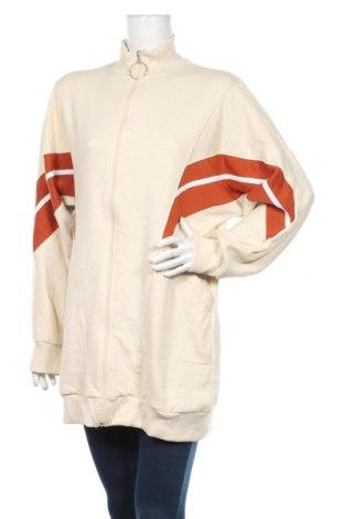 Bluză trening de femei Boohoo, Mărime S, Culoare Bej, 65% poliester, 35% bumbac, Preț 60,63 Lei