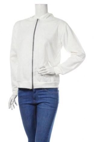 Bluză trening de femei Boohoo, Mărime S, Culoare Alb, 95% poliester, 5% elastan, Preț 72,00 Lei