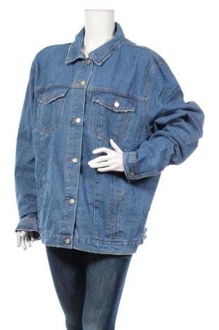 Дамско яке Boohoo, Размер L, Цвят Син, 95% памук, 5% полиестер, Цена 35,40лв.