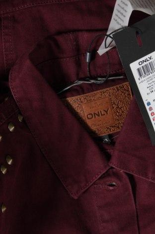 Дамско яке Only, Размер XS, Цвят Лилав, Памук, Цена 35,60лв.