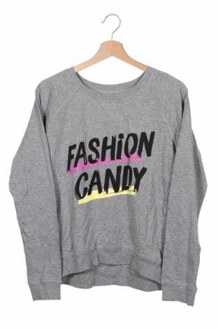 Детска блуза H&M, Размер 14-15y/ 168-170 см, Цвят Сив, 85% памук, 15% вискоза, Цена 4,73лв.