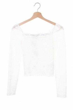 Детска блуза Wow, Размер 12-13y/ 158-164 см, Цвят Бял, 90% полиамид, 10% еластан, Цена 6,56лв.