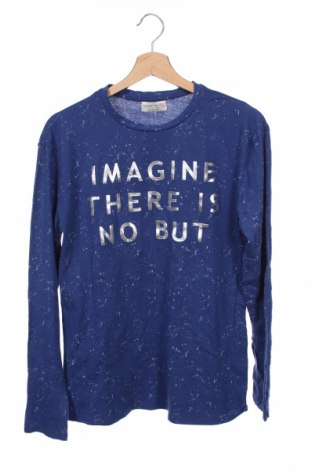 Детска блуза Zara, Размер 12-13y/ 158-164 см, Цвят Син, 100% памук, Цена 6,56лв.