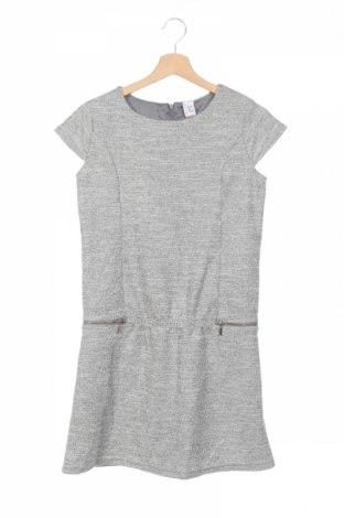 Детска рокля Reserved, Размер 13-14y/ 164-168 см, Цвят Сив, 60% памук, 30% полиестер, 10% метал, Цена 31,50лв.