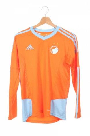 Детска спортна блуза Adidas, Размер 12-13y/ 158-164 см, Цвят Оранжев, Полиестер, Цена 8,40лв.