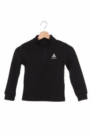 Детска спортна блуза Odlo, Размер 4-5y/ 110-116 см, Цвят Черен, Полиестер, Цена 29,40лв.