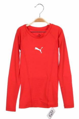 Детска спортна блуза PUMA, Размер 7-8y/ 128-134 см, Цвят Червен, 89% полиестер, 11% еластан, Цена 13,86лв.
