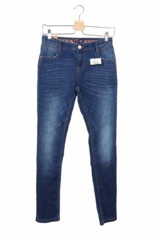 Dětské džíny  Reserved, Rozměr 13-14y/ 164-168 cm, Barva Modrá, 68% bavlna, 30% polyester, 2% elastan, Cena  480,00Kč