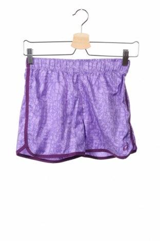 Pantaloni scurți de copii ASICS, Mărime 10-11y/ 146-152 cm, Culoare Mov, Poliester, Preț 69,16 Lei