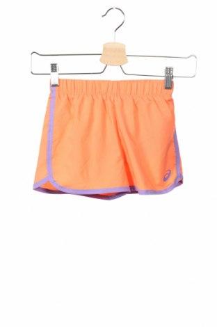 Pantaloni scurți de copii ASICS, Mărime 6-7y/ 122-128 cm, Culoare Portocaliu, Poliester, Preț 69,16 Lei