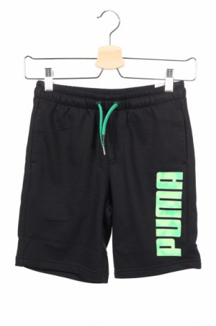 Detské krátke nohavice  PUMA, Veľkosť 8-9y/ 134-140 cm, Farba Čierna, 60% bavlna, 40% polyester, Cena  15,08€